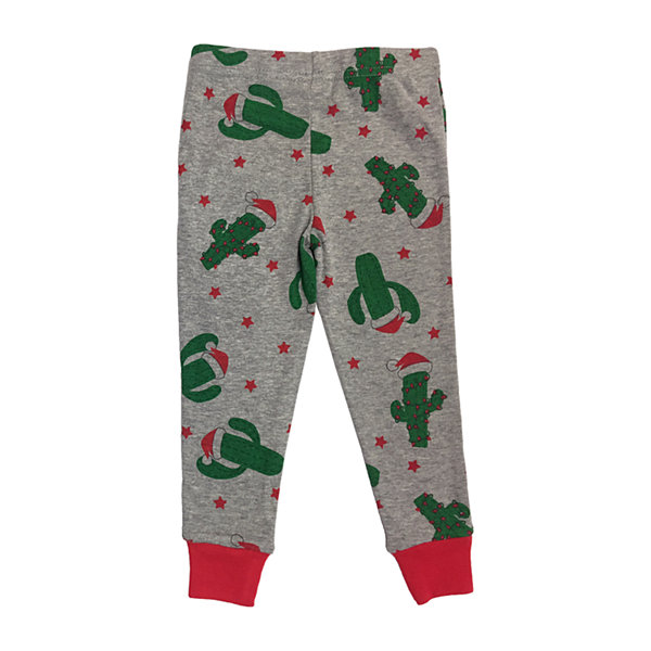 Secret Santa Feliz Navidad Family Unisex 2-pc. Pant Pajama Set Toddler