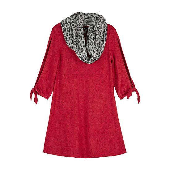 by&by girl Girls 3/4 Sleeve Split Sleeve Sweater Dress - Big Kid