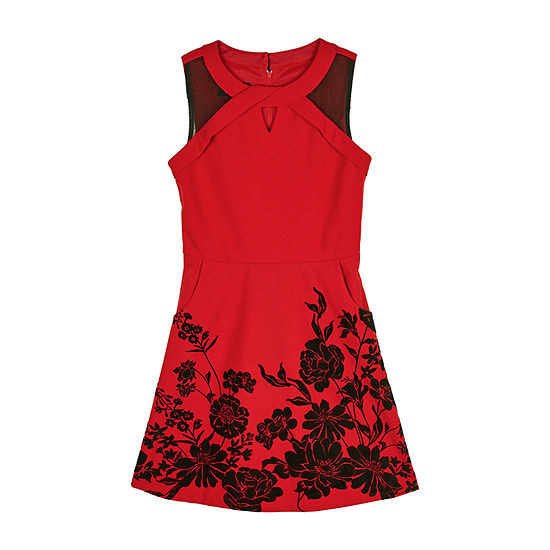 by&by girl Girls Sleeveless Skater Dress - Big Kid