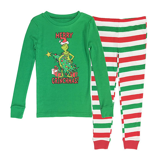 Dr. Seuss Grinch Family Boys 2 Piece Pajama Set - Preschool/Big Kid