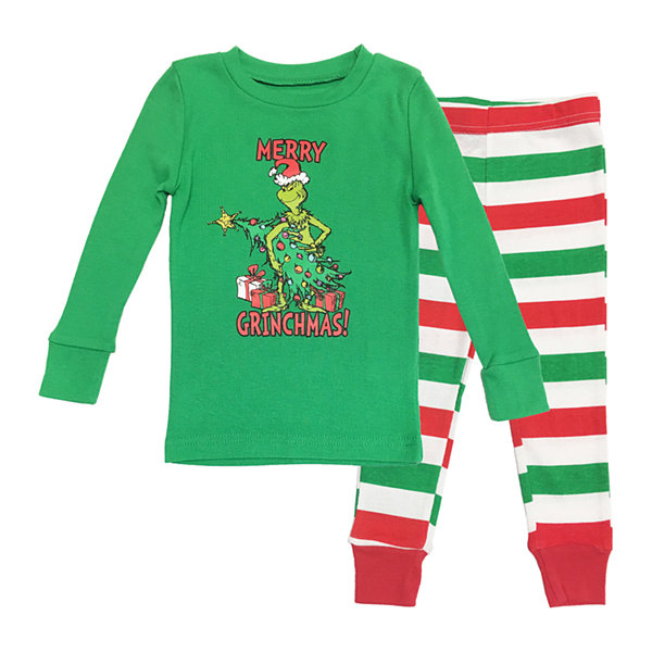 Dr. Seuss Grinch Family Boys 2 Piece Pajama Set - Toddler