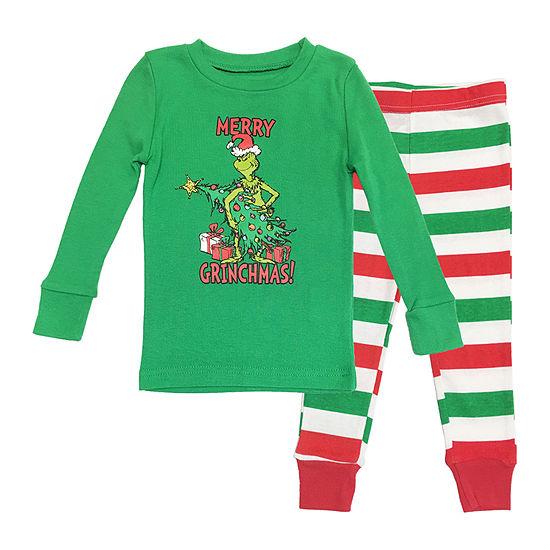 Dr. Seuss Grinch Family 2 Piece Pajama Set -Boy's Toddler