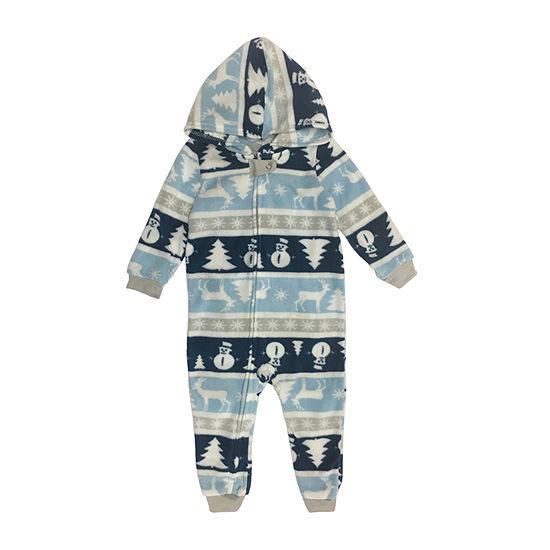 Secret Santa Chill Out Family Unisex Fleece One Piece Pajama Long Sleeve