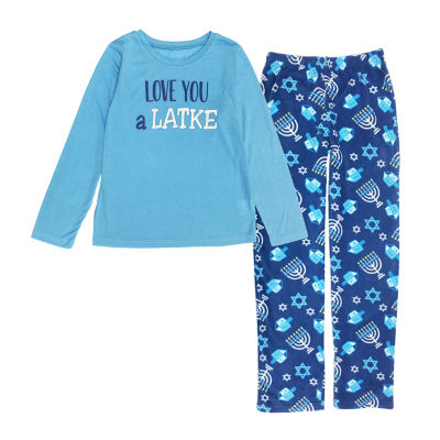 Hanukkah Family Unisex 2-pc. Pant Pajama Set Preschool / Big Kid