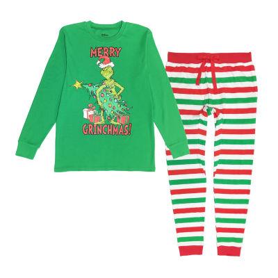 Dr. Seuss Grinch Family  2 Piece Pajama Set -Men's