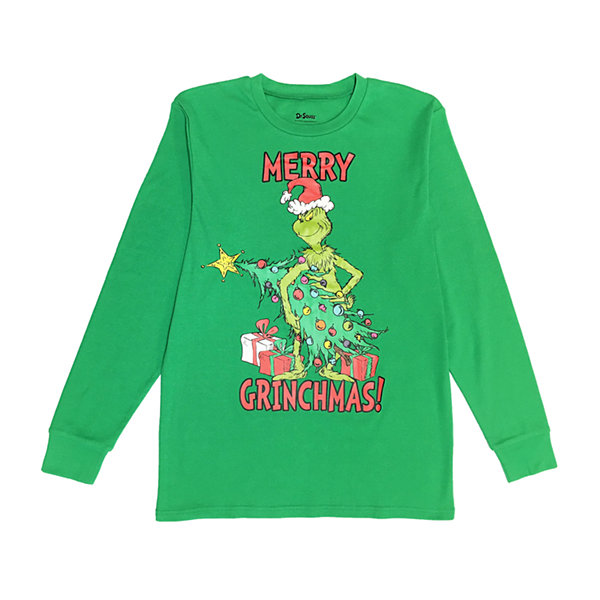 Dr. Seuss The Grinch Family Mens 2-pc. Grinch Pant Pajama Set