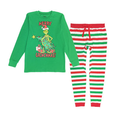 Dr. Seuss Grinch Family  2 Piece Pajama Set -Men's Big and Tall