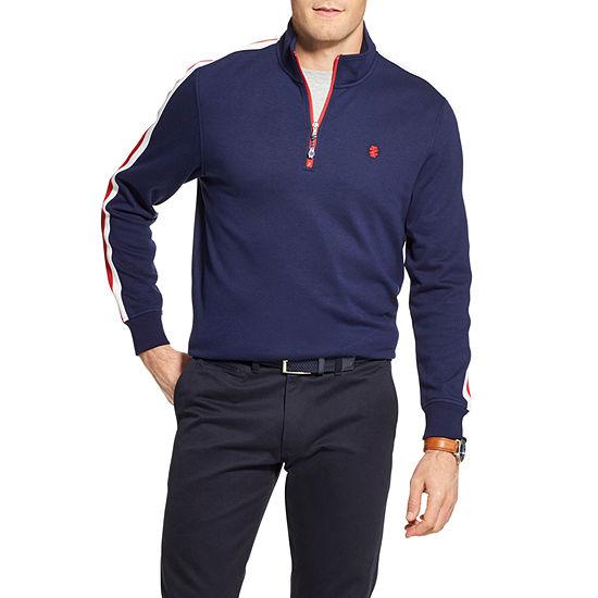 IZOD Advantage Performance Mens High Neck Long Sleeve Quarter-Zip Pullover