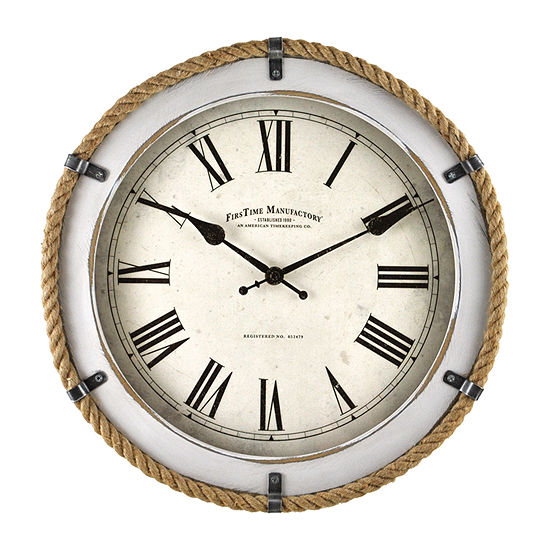 Firstime Whitewashed Rope Wall Clock