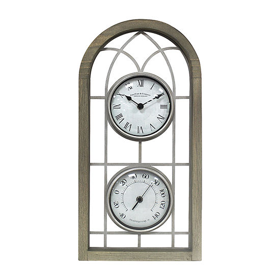 Firstime Farmhouse Arch Outdoor Wall Clock