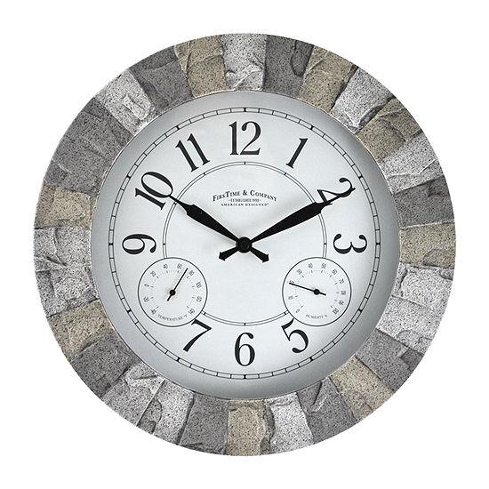 Firstime Stoneybrook Outdoor Wall Clock-31072