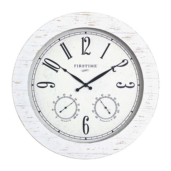 Firstime Shiplap Planks Outdoor Wall Clock-31075