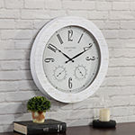 Firstime Shiplap Planks Outdoor Wall Clock
