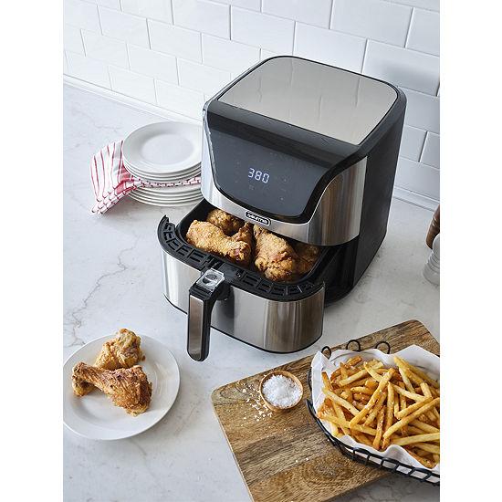 Gourmia® 6-Quart Zero Oil Stainless Steel Digital Air Fryer