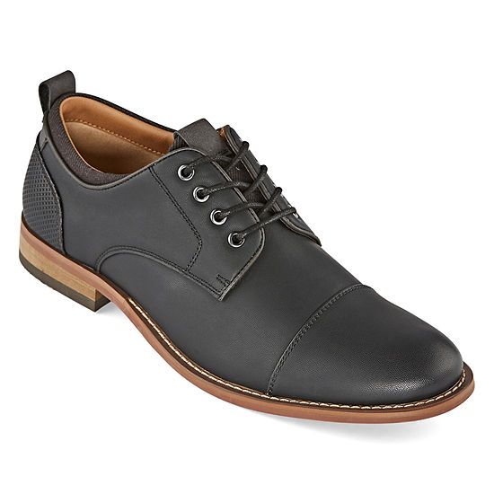 JF J.Ferrar Mens Jf Damon Lace-up Round Toe Oxford Shoes