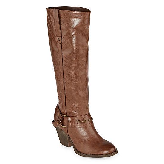 Pop Womens Lonie Dress Boots Block Heel