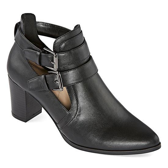 Liz Claiborne Womens Camelia Block Heel Booties