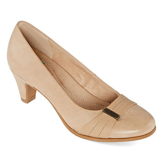 Yuu Womens Oellen Slip-on Round Toe Pumps