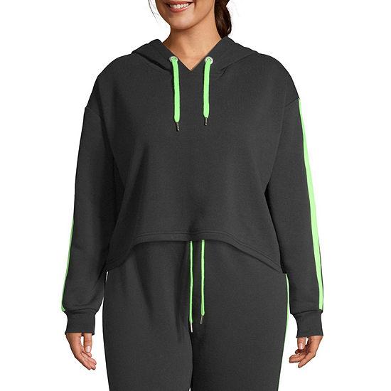 Cut And Paste-Juniors Plus Womens Long Sleeve Fleece Hoodie