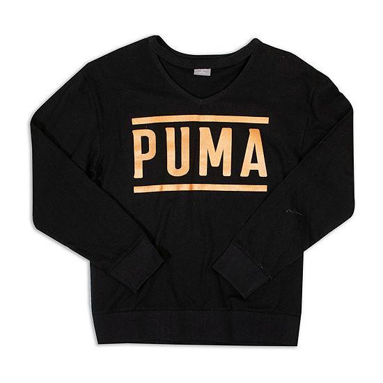 Puma Puma Girls Girls Round Neck Long Sleeve Graphic T Shirt Preschool Big Kid