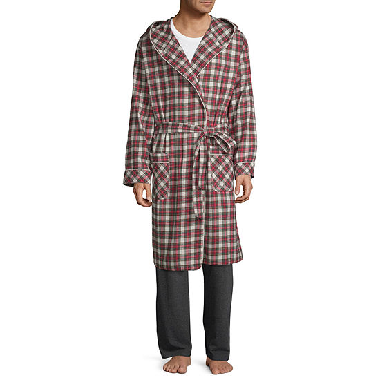 Stafford Flannel Hooded Robe