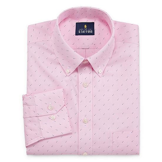Stafford Mens Button Down Collar Long Sleeve Dress Shirt
