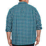 The Foundry Big & Tall Supply Co. Big and Tall Mens Long Sleeve Button-Front Shirt