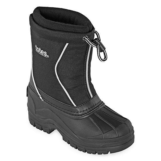 Totes Joel Waterproof Insulated Little Kid/Big Kid Boys Pull-on Winter Boots