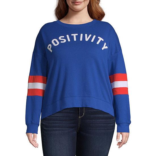 Arizona Crew Neck Long Sleeve Sweatshirt Juniors Plus