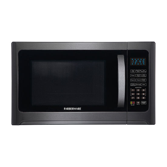 arberware Black FMO12AHTBSG 1.2 Cu. Ft 1100-Watt Microwave Oven with Grill