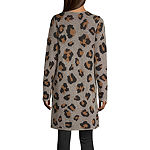 Alyx Womens Long Sleeve Open Front Animal Cardigan
