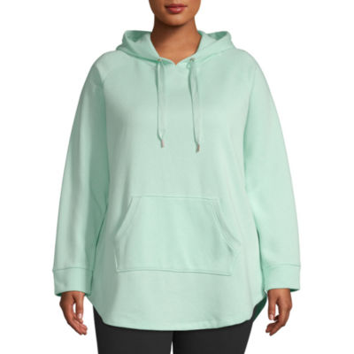 Xersion-Plus Womens Hooded Neck Long Sleeve Tunic Top