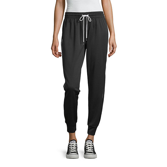 Inspired Hearts-Juniors Womens Mid Rise Straight Pull-On Pants