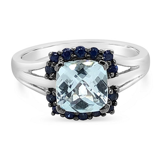 LIMITED QUANTITIES! Le Vian Grand Sample Sale™ Ring featuring Blue Topaz Blueberry Sapphire™ set in 14K Vanilla Gold®