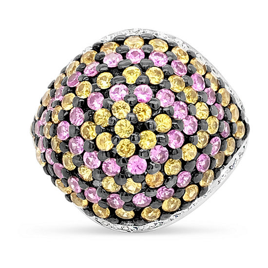 LIMITED QUANTITIES! Le Vian Grand Sample Sale™ Ring featuring Bubble Gum Pink Sapphire™ Yellow Sapphire Vanilla Diamonds® set in 18K Vanilla Gold®