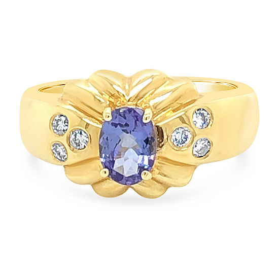 LIMITED QUANTITIES! Le Vian Grand Sample Sale™ Ring featuring Blueberry Tanzanite® Vanilla Diamonds® set in 14K Honey Gold™