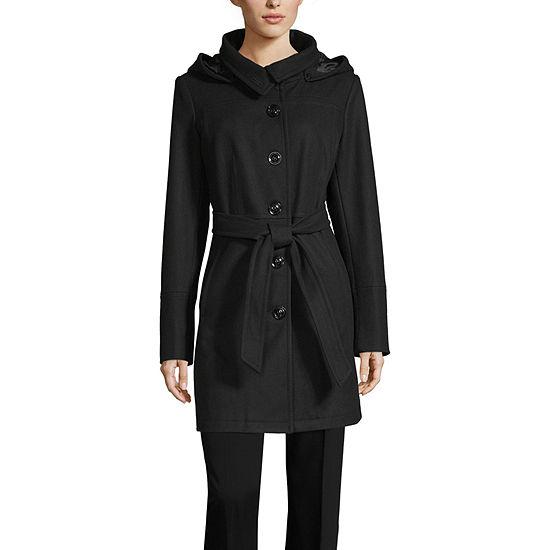 Liz Claiborne Hooded Heavyweight Overcoat