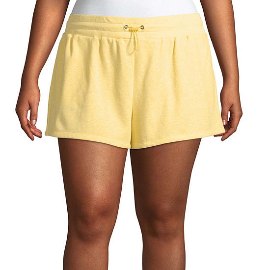 Flirtitude Womens Pull-On Short-Juniors Plus