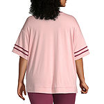 Flirtitude-Womens Crew Neck Short Sleeve T-Shirt Juniors Plus