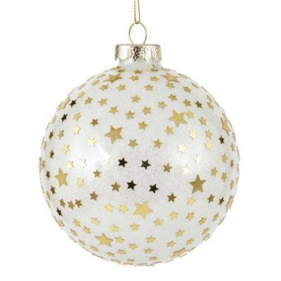 North Pole Trading Co. Star Ball Novelty Christmas Ornament