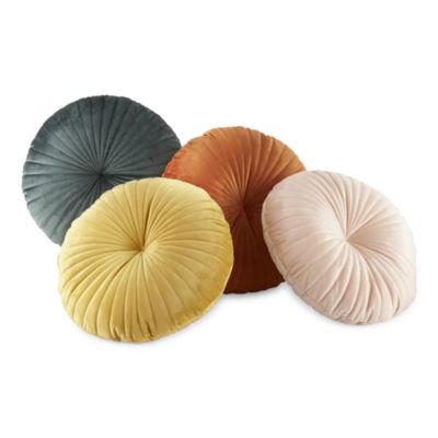 Home Expressions Velvet Round Round Throw Pillow