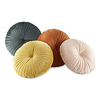 Home Expressions Velvet Round Throw Pillow Deals