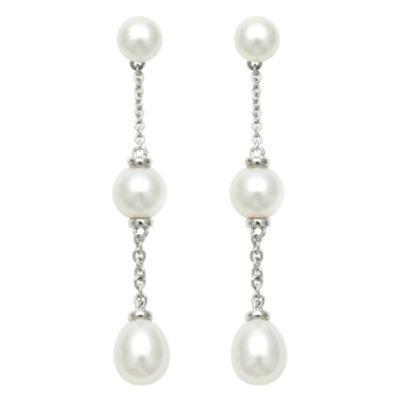 Cultured Freshwater Pearl Dangle Earrings