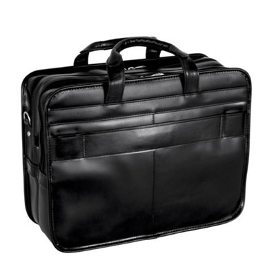 "McKleinUSA Elston 15.6"" Leather Double Compartment Laptop Briefcase"