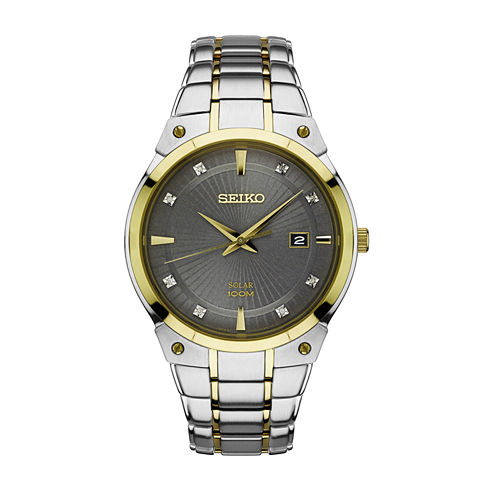 Seiko Mens Two Tone Bracelet Watch-Sne430