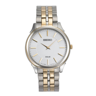 Seiko Mens Two Tone Bracelet Watch-Sup864