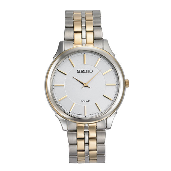 Seiko Mens Two Tone Stainless Steel Bracelet Watch-Sup864
