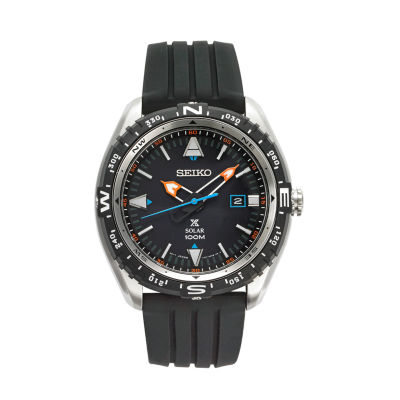 Seiko Mens Black Strap Watch-Sne423