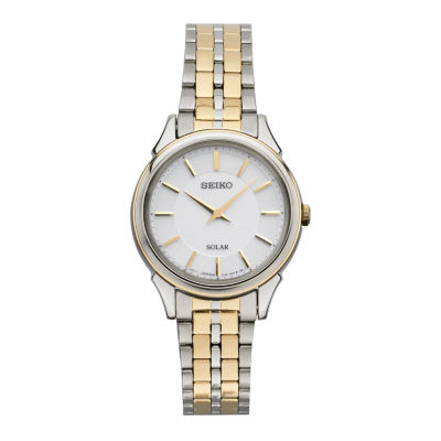 Seiko Womens Two Tone Bracelet Watch-Sup344