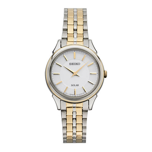 Seiko Womens Two Tone Bracelet Watch-Sup344